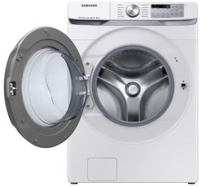 """WF50R8500AW Samsung 27"""" Bixby Enabled Front Load Washer with Super Speed and Steam - White"""