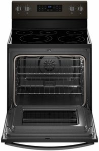"WFE550S0HV Whirlpool 30"" 5.3 Cu. Ft. Freestanding Electric Range with Self-Cleaning Mode and Fan Convection Cooking - Black Stainless Steel"