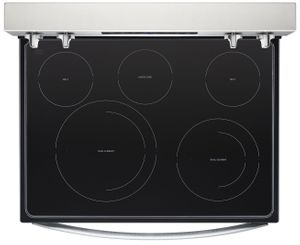 "WFE550S0HZ Whirlpool 30"" 5.3 Cu. Ft. Freestanding Electric Range with Self-Cleaning Mode and Fan Convection Cooking - Fingerprint Resistant Stainless Steel"