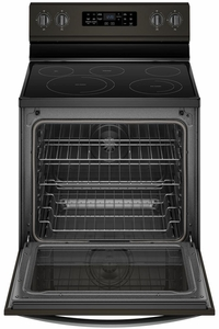 "WFE775H0HV Whirlpool 30"" 6.4 Cu. Ft. Freestanding Electric Range with Frozen Bake Technology and Aqualift - Black Stainless Steel"