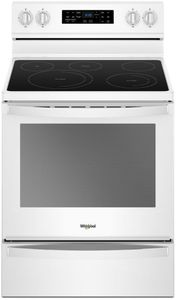 """WFE775H0HW Whirlpool 30"""" 6.4 Cu. Ft. Freestanding Electric Range with Frozen Bake Technology and Aqualift - White"""