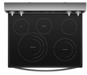 """WFE975H0HZ Whirlpool 30"""" 6.4 Cu. Ft. Freestanding Electric Range with True Convection and Voice Control - Fingerprint Resistant Stainless Steel"""