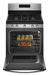 "WFG525S0HS Whirlpool 30"" 5.0 Cu. Ft. Freestanding Gas Range with Center Oval Burner - Stainless Steel"