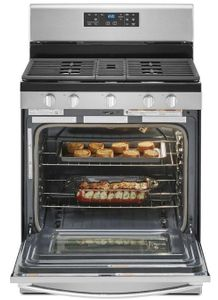 "WFG525S0JZ 30"" Whirlpool 5.0 Cu. Ft. Freestanding Gas Range with SpeedHeat Burner and Closed Door Broiling - Fingerprint Resistant Stainless Steel"