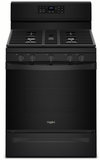 "WFG550S0HB Whirlpool 30"" 5.0 Cu. Ft. Freestanding Gas Range with Self-Cleaning Mode and Fan Convection Cooking - Black"