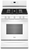 """WFG550S0HW Whirlpool 30"""" 5.0 Cu. Ft. Freestanding Gas Range with Self-Cleaning Mode and Fan Convection Cooking - White"""