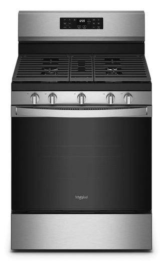 """WFG550S0LZ Whirlpool 30"""" Gas Range with 5 Sealed Burners and 5 in 1 Air Fry - Fingerprint Resistant Stainless Steel"""