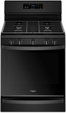 "WFG775H0HB Whirlpool 30"" 5.8 Cu. Ft. Freestanding Gas Range with  Convection and FrozenBake Technology - Black"