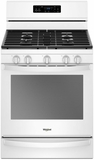 """WFG775H0HW Whirlpool 30"""" 5.8 Cu. Ft. Freestanding Gas Range with  Convection and FrozenBake Technology - White"""