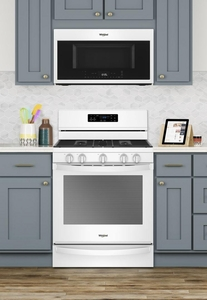 "WFG775H0HW Whirlpool 30"" 5.8 Cu. Ft. Freestanding Gas Range with  Convection and FrozenBake Technology - White"