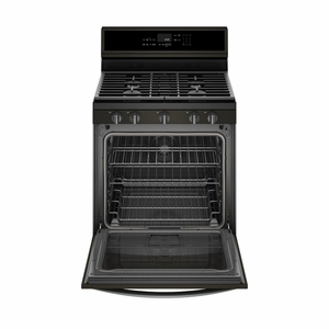"""WFG975H0HV Whirlpool 30"""" 5.8 Cu. Ft. Freestanding Gas Range with True Convection and 5 Sealed Burners - Black Stainless Steel"""
