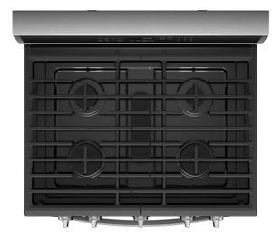 "WFG975H0HZ Whirlpool 30"" 5.8 Cu. Ft. Freestanding Gas Range with True Convection and 5 Sealed Burners - Fingerprint Resistant Stainless Steel"