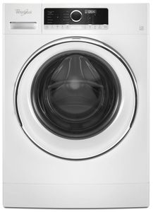 """WFW5090JW Whirlpool 24"""" Front Load Washer with Steam Clean Option and Cold Wash Cycle - White"""