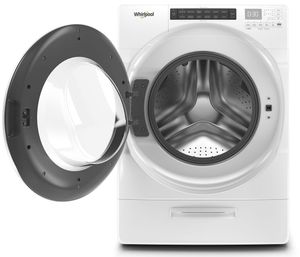"""WFW5620HW Whirlpool 27"""" Front Load Washer with Steam Clean Option and Cold Wash Cycle - White"""