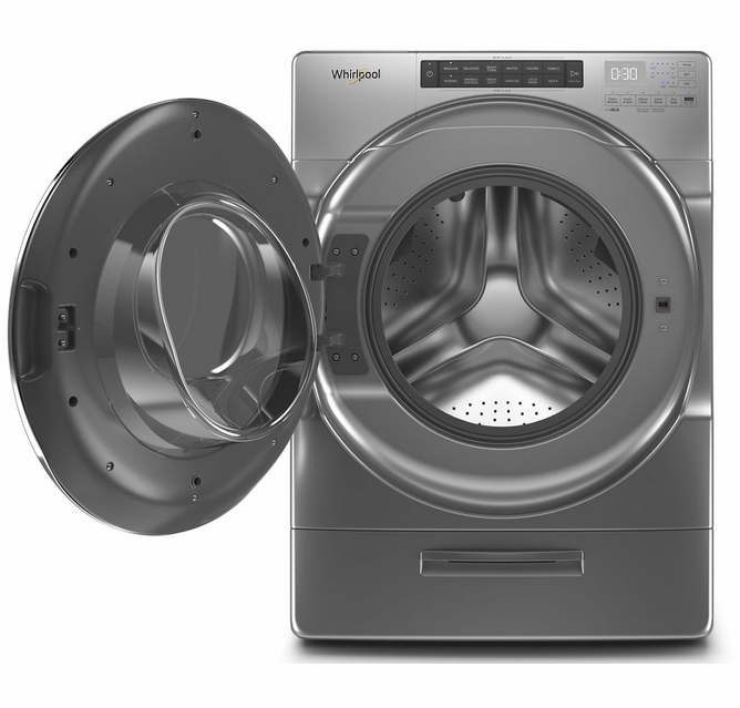 Wfw6620hc 27 Whirlpool 4 5 Cu Ft Closet Depth Front Load Washer With Load Go Xl