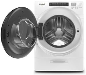 """WFW6620HW 27"""" Whirlpool 4.5 cu. ft. Closet Depth Front Load Washer with Load & Go XL Dispenser and Intuitive Controls - White"""