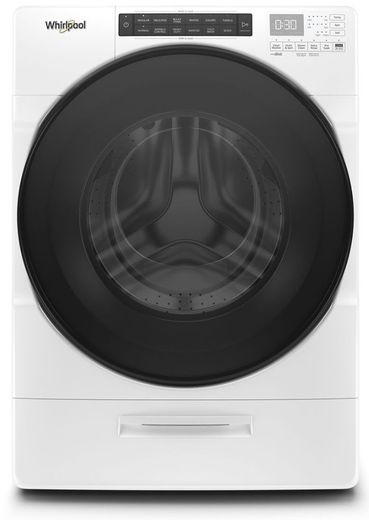 "WFW6620HW 27"" Whirlpool 4.5 cu. ft. Closet Depth Front Load Washer with Load & Go XL Dispenser and Intuitive Controls - White"