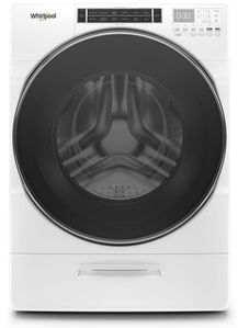 "WFW8620HW 27"" Whirlpool 5.0 cu. ft. Front Load Washer with 12 Hour FanFresh Option and Load & Go Dispenser - White"