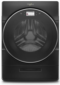 """WFW9620HBK 27"""" Whirlpool 5.0 cu. ft. Front Load Washer with 12 Hour FanFresh and Load & Go Dispenser - Black"""