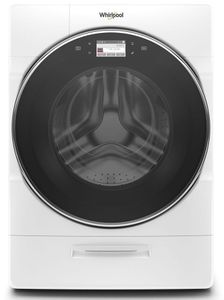 """WFW9620HW 27"""" Whirlpool 5.0 cu. ft. Front Load Washer with 12 Hour FanFresh and Load & Go Dispenser - White"""