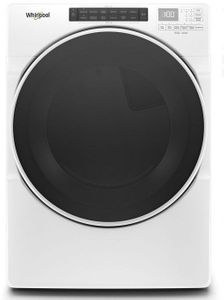 """WGD6620HW 27"""" Whirlpool 7.4 cu. ft. Front Load Gas Dryer with EcoBoost Option and Quad Baffle - White"""
