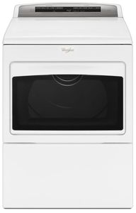 WGD7500GW Whirlpool 7.4 Cu. Ft. Large Capacity Gas Dryer with AccuDry and Sanitize Cycle - White