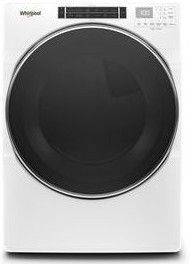 """WGD8620HW 27"""" Whirlpool 7.4 cu. ft. Front Load Gas Dryer with Steam Refresh Cycle and Intuitive Controls - White"""