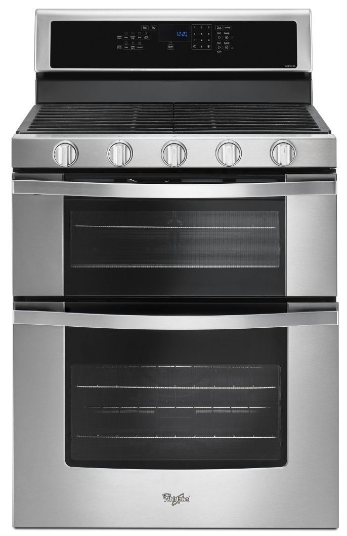 Wgg745s0fs Whirlpool 30 Freestanding Gas Range With 5 Sealed Burners Dual Ovens 6 Cu Ft Capacity And Frozen Bake Technology Stainless Steel