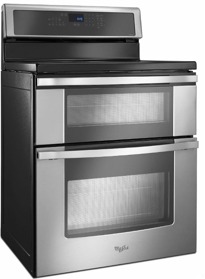 Wgi925c0bs Whirlpool 6 7 Cu Ft Double Oven Electric Range With Induction Cooktop Stainless Steel