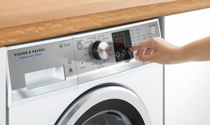 """WH2424P1 Fisher & Paykel 24"""" 2.4 cu ft Capacity WashSmart Front Load Washer with 12 Wash Cycles and Sanitize Wash  - White"""