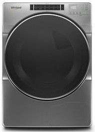 "WHD862CHC 27"" Whirlpool 7.4 cu. ft. Closet Depth Front Load Heat Pump Dryer with Advanced Moisture Sensing and Intuitive Controls - Chrome Shadow"