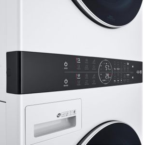 """WKGX201HWA LG 27"""" Laundry WashTower with 4.5 cu ft Washer and 7.4 cu ft Gas Dryer - White"""