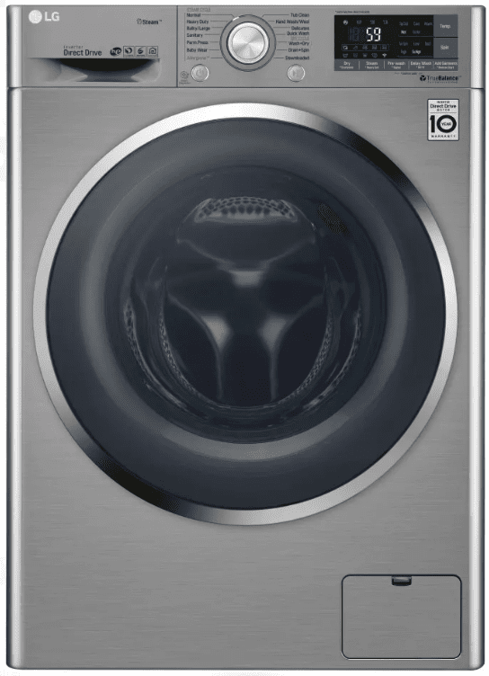 Wm3499hva Lg 24 Front Load Ventless Washer Dryer Combo With 14 Wash Programs And Steam Clean Technology Graphite Steel