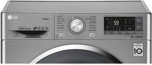 "WM3499HVA LG 24"" Front Load Ventless Washer/Dryer Combo with 14 Wash Programs and Steam Clean Technology - Graphite Steel"