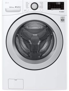 "WM3500CW LG 27"" 4.5 cu. ft. Ultra Large Capacity Smart WiFi Enabled Front Load Washer with 6 Motion Technology and SmartDiagnosis - White"