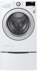 """WM3500CW LG 27"""" 4.5 cu. ft. Ultra Large Capacity Smart WiFi Enabled Front Load Washer with 6 Motion Technology and SmartDiagnosis - White"""