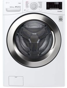 "WM3700HWA LG 27"" 4.5 cu. ft. Ultra Large Capacity Smart WiFi Enabled Steam Front Load Washer with 6 Motion Technology and SmartDiagnosis - White"