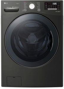 """WM3900HBA LG 27"""" Front Load Washer with TurboWash 360 Technology and TurboSteam - Black Steel"""