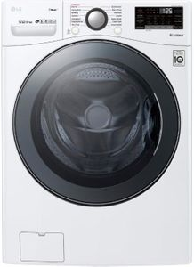 "WM3900HWA LG 27"" Front Load Washer with TurboWash 360 Technology and TurboSteam - White"