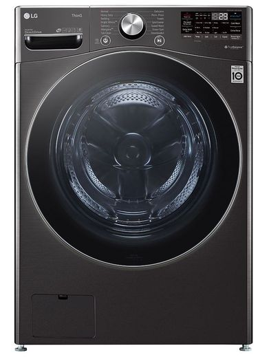 WM4200HBA LG 5.0 cu. ft. Mega Capacity Smart WiFi Enabled Front Load Washer with TurboWash - Black Steel