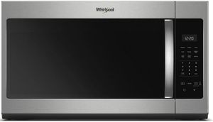 """WMH31017HS Whirlpool 30"""" 1.7 Cu. Ft. Over-the-Range Microwave Hood Combination with Electronic Touch Controls and 300 CFM - Stainless Steel"""