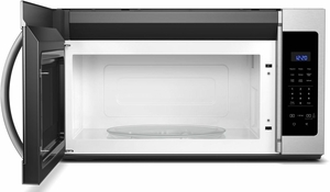 """WMH31017HZ Whirlpool 30"""" 1.7 Cu. Ft. Over-the-Range Microwave Hood Combination with Electronic Touch Controls and 300 CFM - Fingerprint Resistant Stainless Steel"""