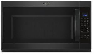 "WMH53521HB Whirlpool 30"" 2.1 Cu. Ft. Over-the-Range Microwave Hood Combination with Sensor Cooking and CleanRelease Interior - Black"