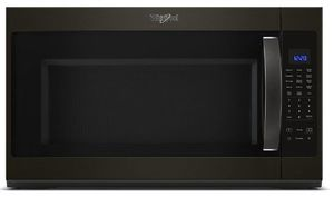 """WMH53521HV Whirlpool 30"""" 2.1 Cu. Ft. Over-the-Range Microwave Hood Combination with Sensor Cooking and CleanRelease Interior - Black Stainless Steel"""