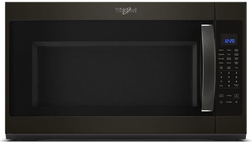 "WMH53521HV Whirlpool 30"" 2.1 Cu. Ft. Over-the-Range Microwave Hood Combination with Sensor Cooking and CleanRelease Interior - Black Stainless Steel"