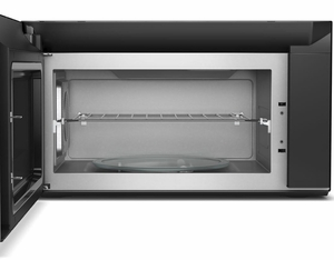 "WMHA9019HV Whirlpool 30"" 1.9 Cu. Ft. Over-the-Range Microwave Hood Combination with Scan To Connect Technology and 400 CFM - Fingerprint Resistant Black Stainless Steel"