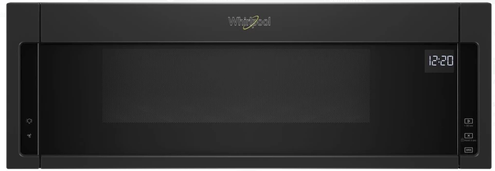 Wml55011hb Whirlpool Low Profile 30 1 Cu Ft Over The Range Microwave With Tap To Open