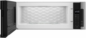 """WML55011HS Whirlpool Low Profile 30"""" 1.1 cu. ft. Over-the-Range Microwave with Tap-to-Open Door and 400 CFM Venting System - Stainless Steel"""