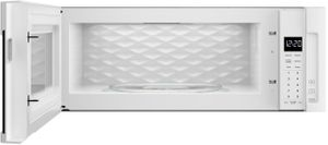 """WML55011HW Whirlpool Low Profile 30"""" 1.1 cu. ft. Over-the-Range Microwave with Tap-to-Open Door and 400 CFM Venting System - White"""
