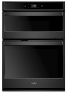 """WOC54EC0HB Whirlpool 30"""" Smart Combination Microwave Wall Oven with Nest Learning Thermostat Integration and Frozen Bake Technology - Black"""